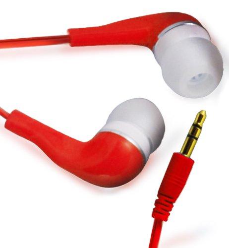 N4U ONLINE Rot Hohe Qualität 3.5MM EARBUD EARPHONES Kopfhörer Headset Stöpsel Für ORANGE MONTE CARLO ZTE SKATE V960
