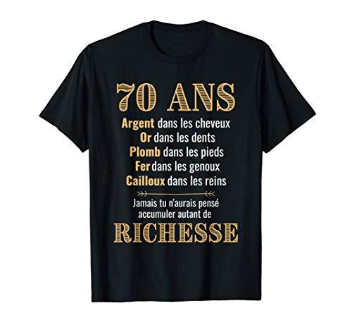 Anniversaire 70 ans Drôle 1950 | Idée Cadeau fête anniv T-Shirt