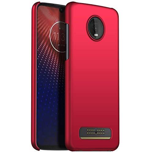TenYll Hülle für Motorola Moto Z4 Force, [Ultra Slim] PC Schutzhülle Stoßfest,Cover Etui leichte Handy-Tasche Handyhülle Schutzhülle für Motorola Moto Z4 Force -Rot