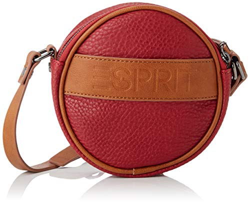ESPRIT Accessoires Damen 080EA1O301 Umhängetasche, 610/DARK RED, 1SIZE