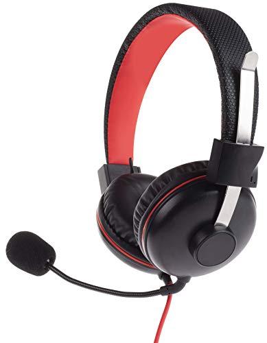 Geekhome Universal Gaming Headset – Stereo Video Game Kopfhörer mit Mikrofon, 3,5 mm Klinke für PS4, Switch, Xbox One, PC, Laptop, Smartphone, Voip, Skype, Whatsapp