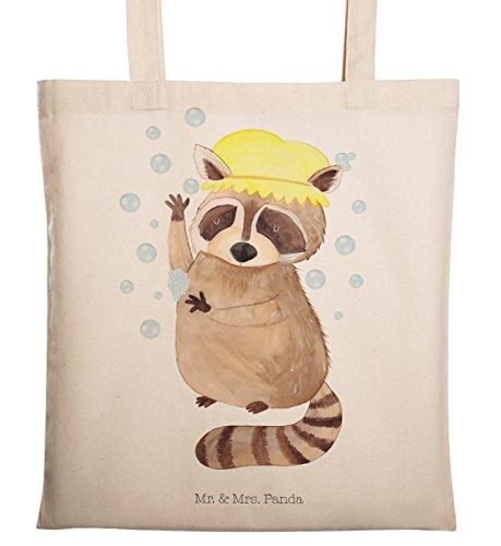 Mr. & Mrs. Panda Stofftasche, Tasche, Tragetasche Waschbär - Farbe Transparent