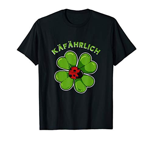 Marienkäfer Glücksbringer Kleeblatt Viel Glück Glücksklee T-Shirt