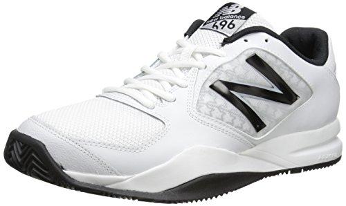 New Balance Men's MC696 Light Weight Tennis Shoe-M, White/Black, 10 D US