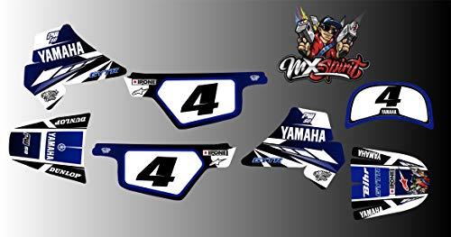 MXSPIRIT Autocollant Kit déco Dark Blue pour Yamaha PW50 PW 50 Bleu 50PW Piwi Qualité Standard + 2 Stickers Offert