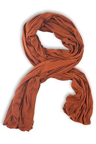 fashionchimp ® BASIC-Schal für Damen in angesagten Trendfarben, Jersey-Design (Cognac)