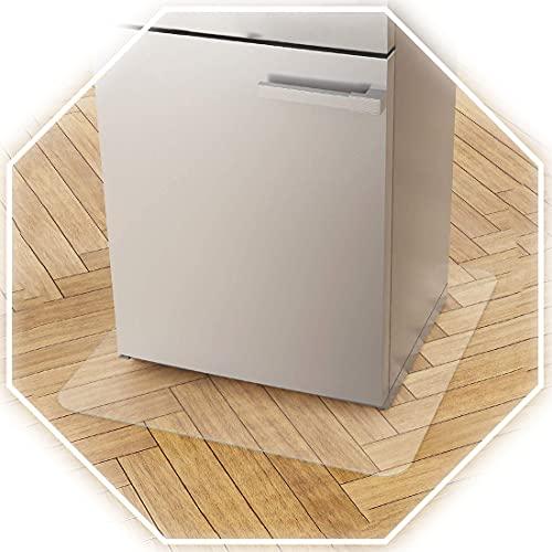 Yibcn Esterilla rectangular para nevera, de plástico suave, antideslizante, resistente para el suelo o la oficina, 1 mm de grosor