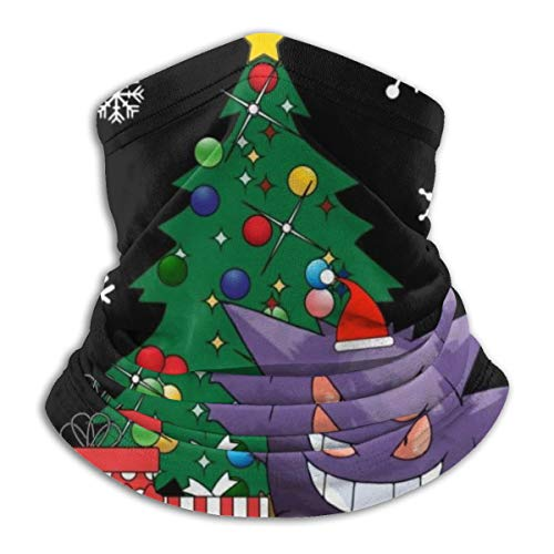 Gengar Around The Christmas Tree Fahrrad Bandanas für Staub, Outdoor, Festivals, Sport