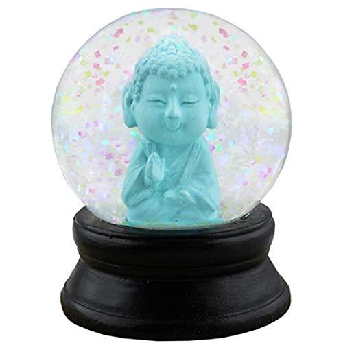World Buyers Small Kneeling Baby Buddha Snow Globe 1.813 x 2.375 Dia (Blue)