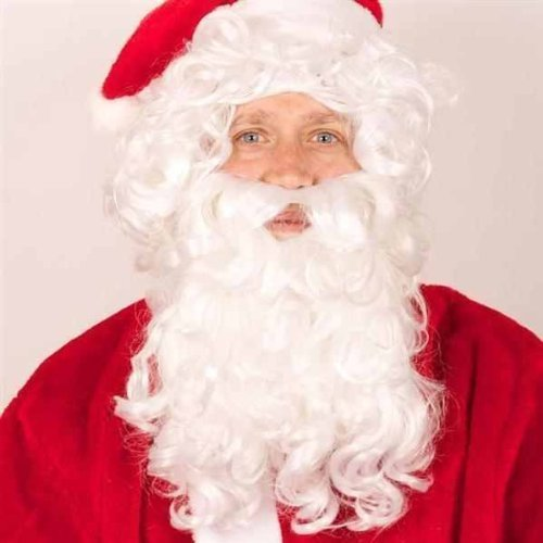 Weihnachtsmannperücke mit Bart deluxe