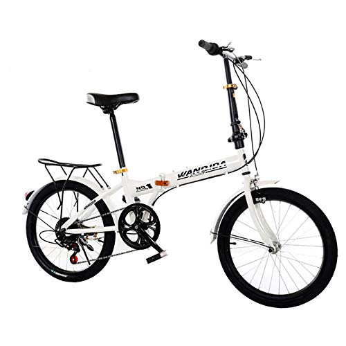 ZPEE Compact Variable Speed Mountain Bike,Ultra-Light 20 Inch Foldable Bike,Leisure Carbon Steel Folding Bicycle,Outdoor Pedal Road Bikes