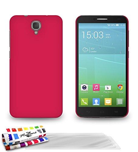 Muzzano F841062 - Funda para Alcatel Idol 2S, incluye 3 protecciones de pantalla, color rosa caramelo
