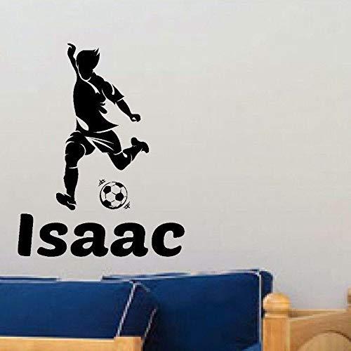 Tianpengyuanshuai naam voetballer muursticker sport sticker kinderkamer hoofddecoratie poster vinyl voetballer aangepaste autosticker