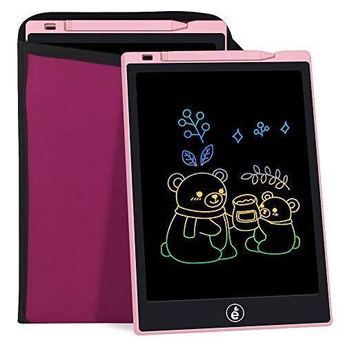 Sunany LCD Tavolo Da Disegno Con Schermo a Colori Per Bambini Da 11 Pollici, Tavolo Da Disegno Per Bambini Lavagna Con Schermo LCD, Può Scrivere e Disegnare Ripetutamente e VieneFornito (Rosa)
