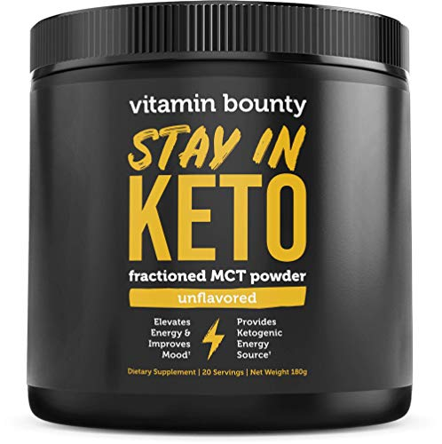 MCT Oil Powder with Organic Acacia Fiber - 0g Net Carbs - Perfect for Coffee Creamer, Smoothies & Sustained Energy, Stay in Keto. 20 Servings