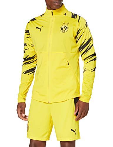 PUMA Herren BVB Stadium Jacket Trainingsjacke, Cyber Yellow Black-Home, XL