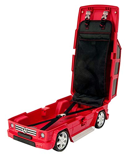 Ridaz Mercedes Benz G Wagon Kids Carry-on Luggage case (Red)
