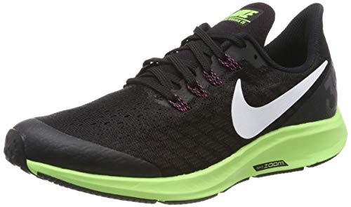 Nike Air Zoom Pegasus 35 (GS), Zapatillas de Running Niñas, Negro (Black/White/Burgundy Ash/Lime Blast 016), 36.5 EU