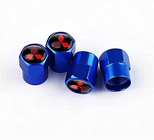 4 Piezas Acero Inoxidable Coche Válvulas Tapas para Mitsubishi ASX Tire Stem Dustproof, Anti Polvo Resistente Agua, anillos de goma Decoración Accesorios