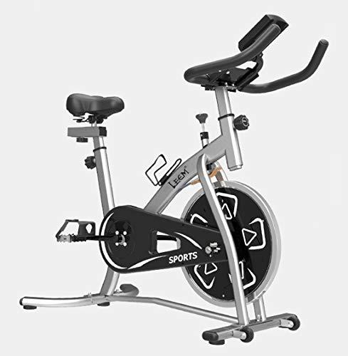 OUYA Bicicleta estática para Interiores con Monitor Digital LCD y Manillar y Asiento Ajustables, Soporte para iPad Bicicletas estacionarias para Gimnasio en casa Entrenamiento aeróbico,Blanco