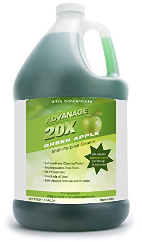 ADVANAGE the Wonder Cleaner 20X Multi-Purpose Ultra Concentrated Formula, Makes 80 Quarts, Eco Friendly, Child and Pet Safe, Non Toxic and Biodegradable, Green Apple Scented, 128 Fluid Ounce,1 Gallon