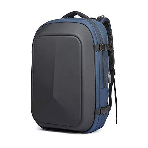 Preisvergleich Produktbild Laptop Rucksack,  Business Waterproof Travel Rucksack College School Bücher Beutel für Männer Frauen mit USB-Ladehafen passt 18 Zoll Laptop große Kapazität Rucksäcke (schwarz), Blue