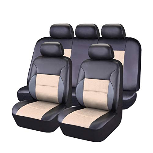CAR PASS Leather Universal Car Seat Covers Set
