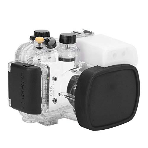 Eosnow Carcasa subacuática para cámara Carcasas subacuáticas de Alta Resistencia mecánica para G16, para Tomar Fotos Mientras se bucea, para G16