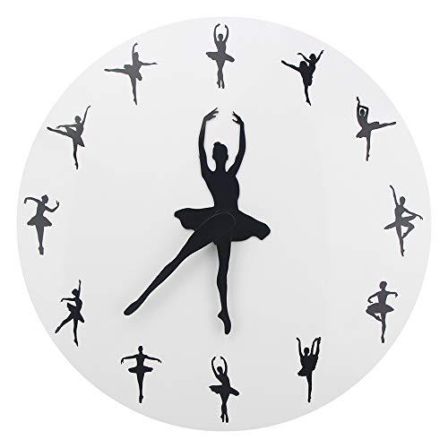 Wanduhr, Ballerina Tänzerin Wanduhr Yoga Haltungen Dekorative Ballett Zeit Wanduhr Uhr Mädchen Zimmer Tanzen Studio Dekor Ballett 3D Uhr