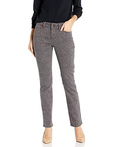 Lee Secretly Shapes Regular Fit Straight Leg Jean Jeans, Estampado Leopardo, 46 ES Largo para Mujer