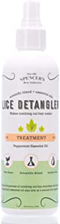 Mint Detangler - Natural DIY Home Lice Prevention-Safe for Kids Adults & Family-Prevent Super Lice Louse Nits Eggs with Our Fast Easy Pro Prevention Product-Formula Clears Head Scalp & Hair