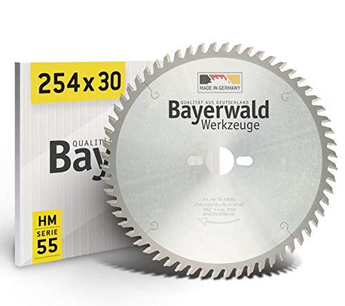 Preisvergleich Produktbild Bayerwald - HM Tischkreissägeblätter - Ø 254 mm x 2, 8 mm x 30 mm / Wechselzahn / Kombinebenlöcher für Bosch GTS 10 & PTS 10 (60 Zähne)