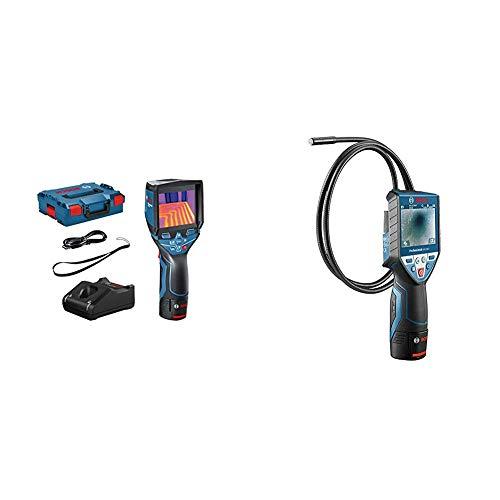 Bosch Professional 12V System Wärmebildkamera GTC 400 C (mit App-Funktion, Temperaturbereich: –10 °C bis +400 °C, in L-Boxx) & Inspektionskamera GIC 120 C (Kabellänge: 120 cm, Display: 3,5'')