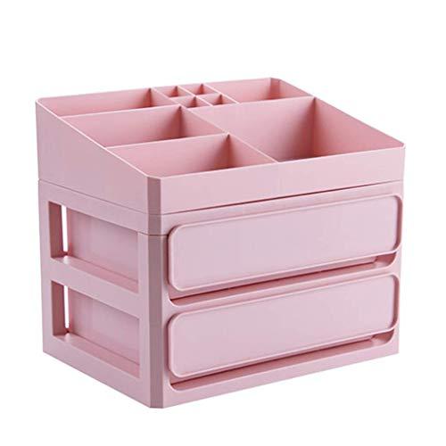 BOX Cosmétiques Boîte de Rangement En Plastique de Bureau Type de Tiroir Rouge À Lèvres Bijoux Soins de La Peau Produits de Stockage D'Affichage Boîte,Rose