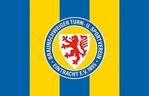 Zimmerflagge Eintracht Braunschweig - 90 x 140 cm + gratis Aufkleber, Flaggenfritze®