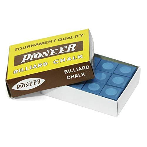 Pioneer Billard Kreide, Billardkreide, Blau, 12 Stück, Pioneer