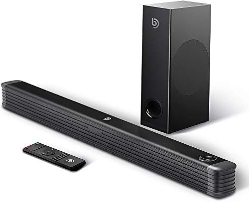 Bomaker Barra de Sonido con Subwoofer Inalámbrico 2.1 Canales para TV, 150W, 130 dB, de Tamaño Extra, Soporta Conexiones Óptico/RCA/Coaxiales/Bluetooth, para Cine en Casa, Njord I