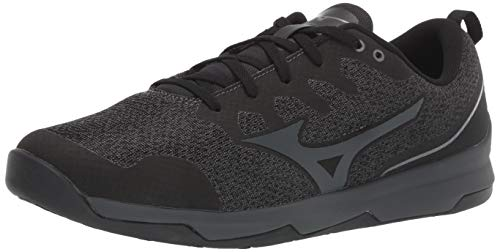 Mizuno Men's TC-02 Cross Training Shoe, Cross Training Sneakers for all forms of Exercise, Black-Charcoal, 11 D US
