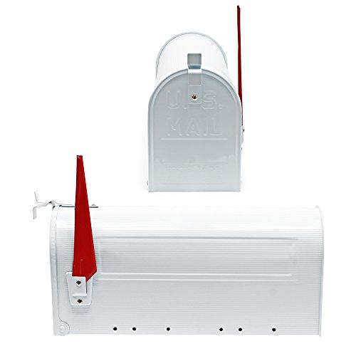 US Mailbox Amerikanisches Design Weiß Briefkasten Standbriefkasten - 3