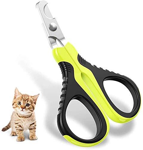 YYhkeby Uñas de Gato del Gato de uñas Clippers Profesional, Mejor Acero Inoxidable de la uña de Gato Uña de Recorte con el Bloqueo Protector de la Seguridad del Animal doméstico Jialele