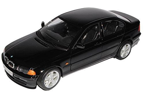 B-M-W 3er E46 328i Limousine Schwarz 1998-2007 1/18 Welly Modell Auto mit individiuellem Wunschkennzeichen
