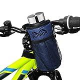SNDMOR Soporte para Botella De Bicicleta-Soporte para Bebida para Bicicleta con Dos Bolsas De Malla, Adecuado para Bicicletas de Montaña, Bicicletas para Niños, Bicicletas Eléctricas(Azul Marino)