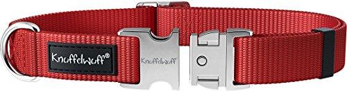 Knuffelwuff 13947-005 ALU Hundehalsband Active Rot, Nylon, 35-50cm