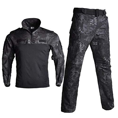 JUNSHIFU Taktische Tarnung Militäruniform Kleidung Frosch Anzüge Männer Jagd Trainingsanzug Black Python L