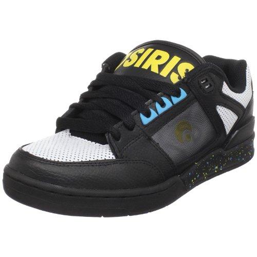 Osiris Herren Devise Skate Schuh, Schwarz (Schwarz/Weiß/Splat), 48 EU
