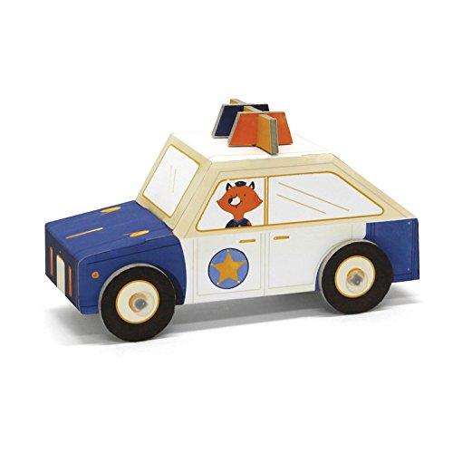 Voiture de police en carton à plier pour enfant - Fold my car - Krooom - K-450