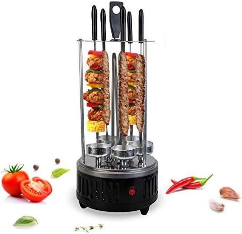 VANGALOO Barbecue de table électrique - Schachlik - Chachlik - Gyros, kebab, viande de kebab, tournebroche - Grill à kebab électrique pour la maison