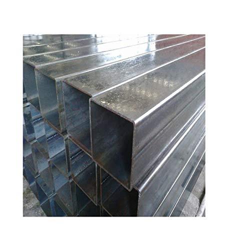 barra profilo quadrato in ferro ZINCATO lunghe 3 metri (80x80x3 mm (lato xlato x spessore))