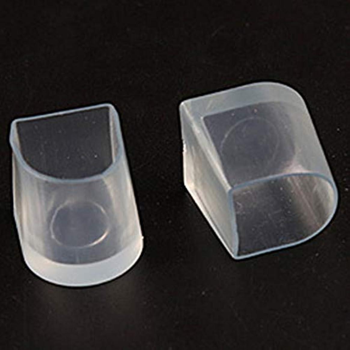 ピーク配置栄光の1ペアハイヒール保護カバーラテンスティレットダンスカバーヒールストッパー滑り止め耐摩耗性 - 透明L