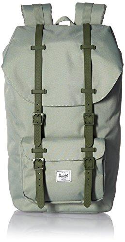 Herschel Iona Backpack, Unisex-Erwachsene Daypack, Shadow/Beetle Rubber (Schwarz) - 10014-01462-OS